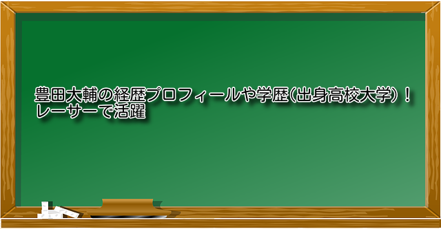豊田大輔経歴